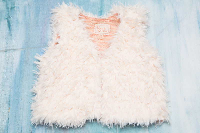 Faux Fur Vest Rose Gold
