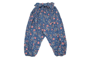 Baby Girl Adjustable Floral Designer Harem Pants | Born By The Shore