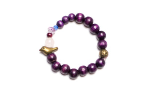 Baby Bracelet Purple Bird