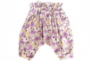 Baby Girl Flower Print Adjustable Harem Pants
