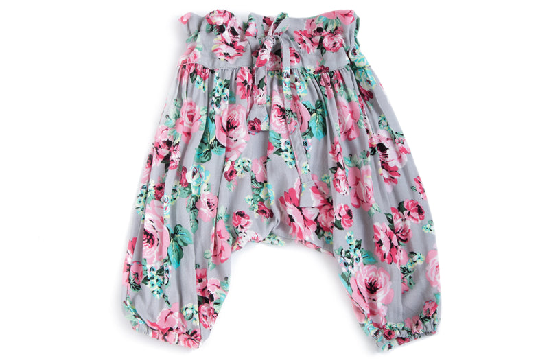 Baby Girl Adjustable  Flower Harem Pants