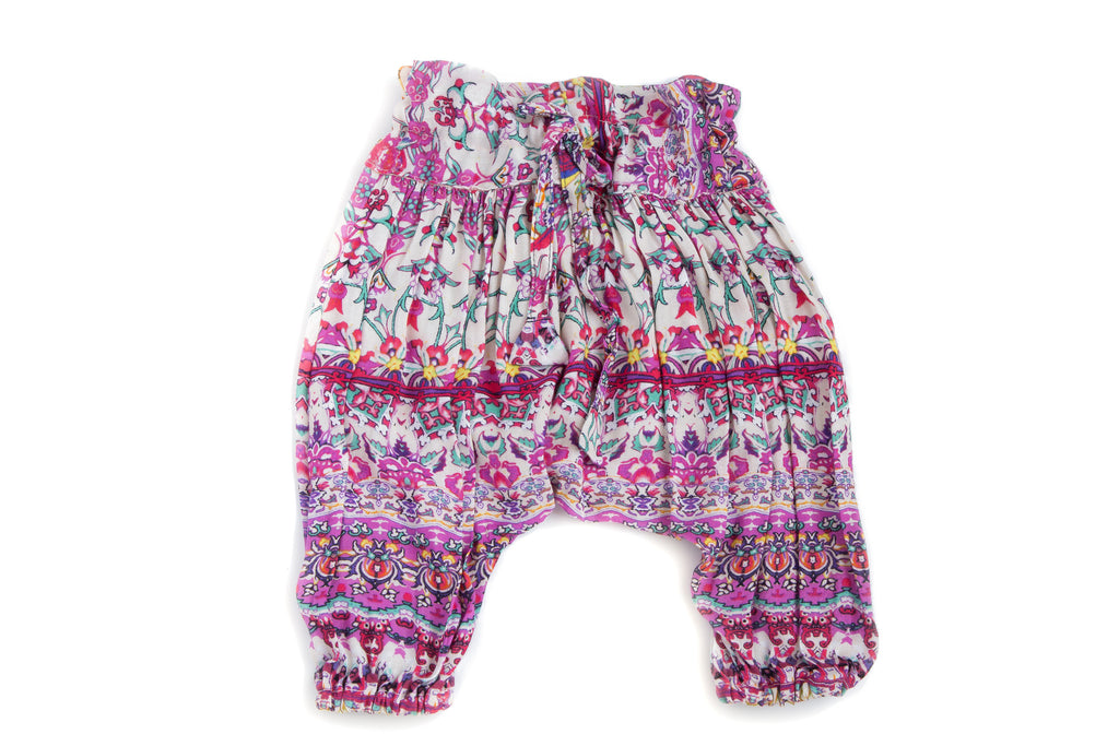 Baby Girl Handmade Boho Hipster Soft Adjustable Harem Pants | Born By The Shore