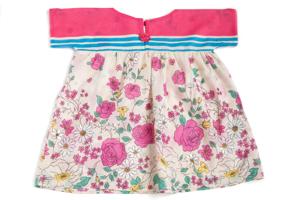 Rainbow Rose Unique Handmade Dress for Baby Girls | Born By The Shore