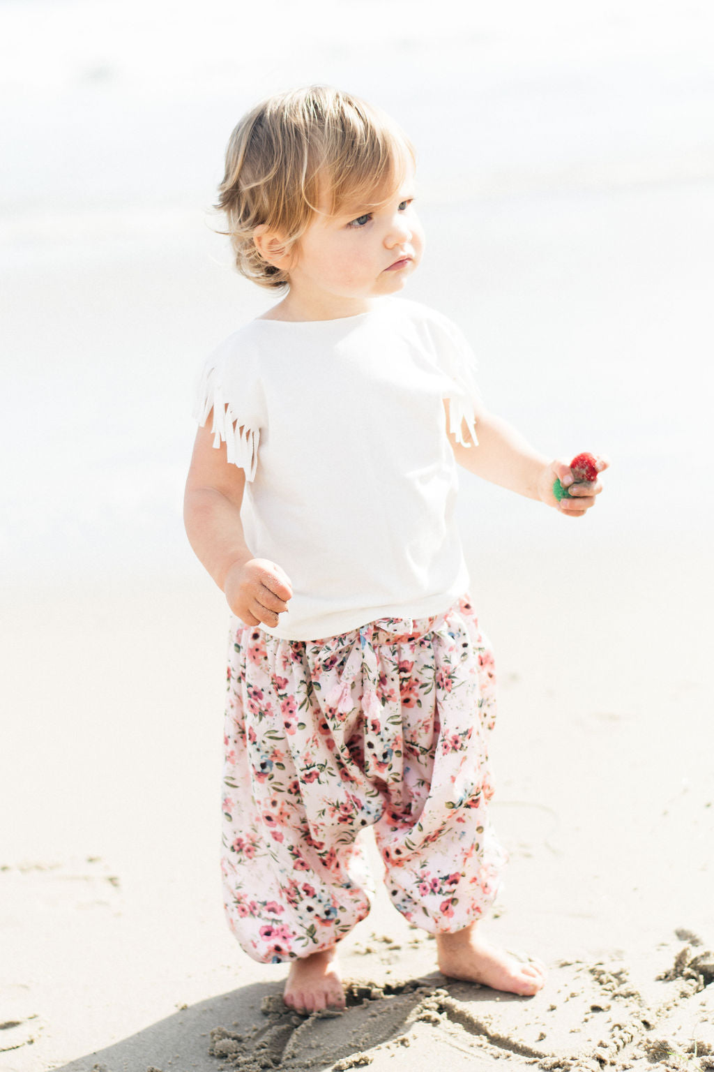 Baby Girl Floral Harem Pants | Satin Love