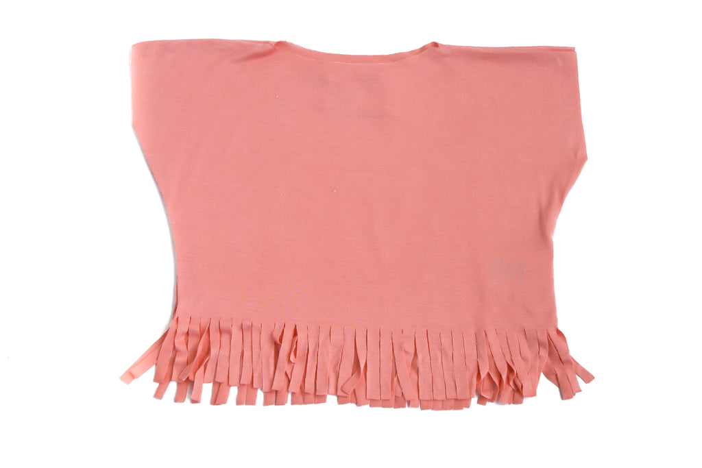 Baby & Toddler Girls Pink Fancy Fringe T-Shirt Top | Born By The Shore