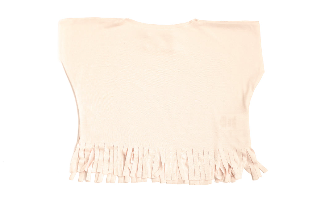 Baby & Toddler Girls Ivory Fancy Fringe T-Shirt Top | Born By The Shore