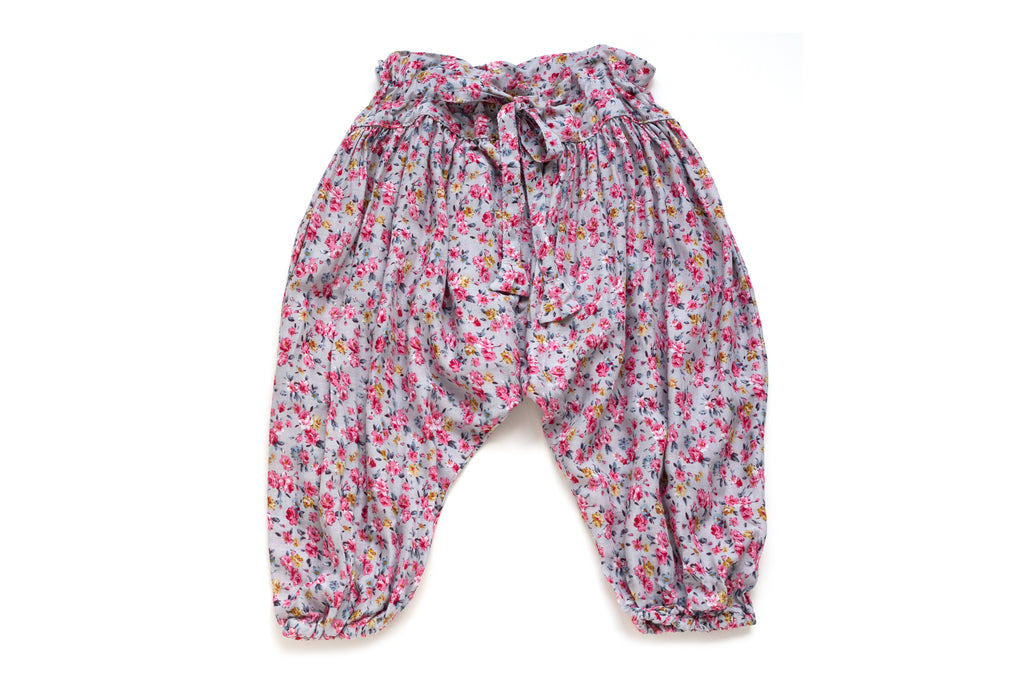 Baby Girl Handmade Designer Cute Floral Harem Pants | Born By The Shore