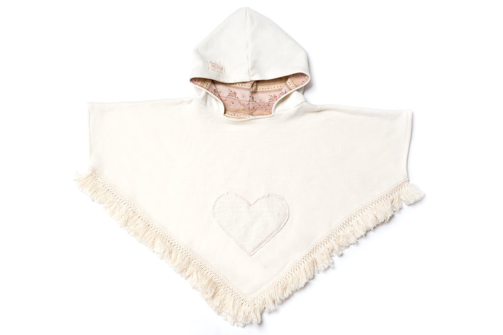 Fringe Heart Pocket Poncho