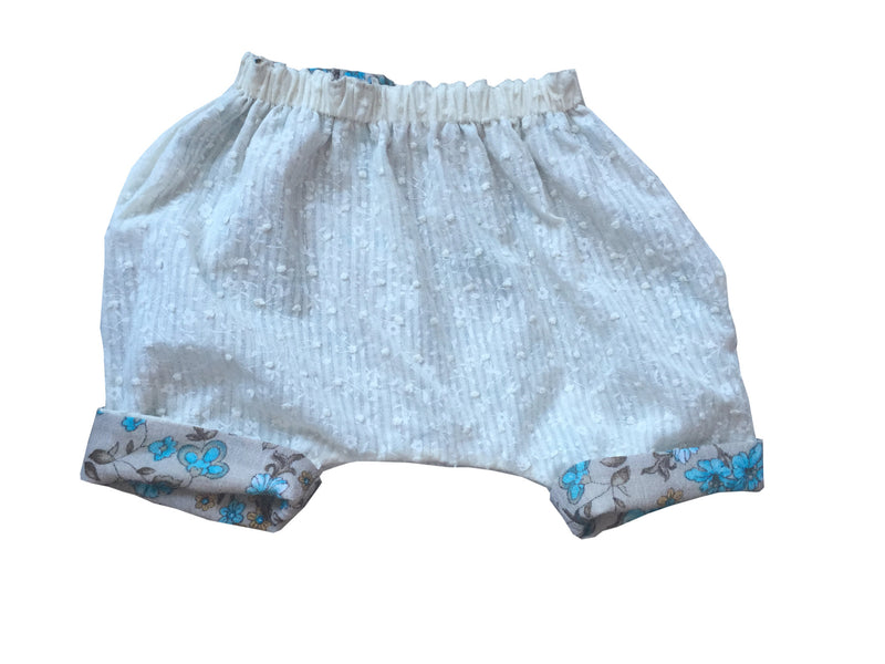 Reversible Baby Girl Flower Shorts