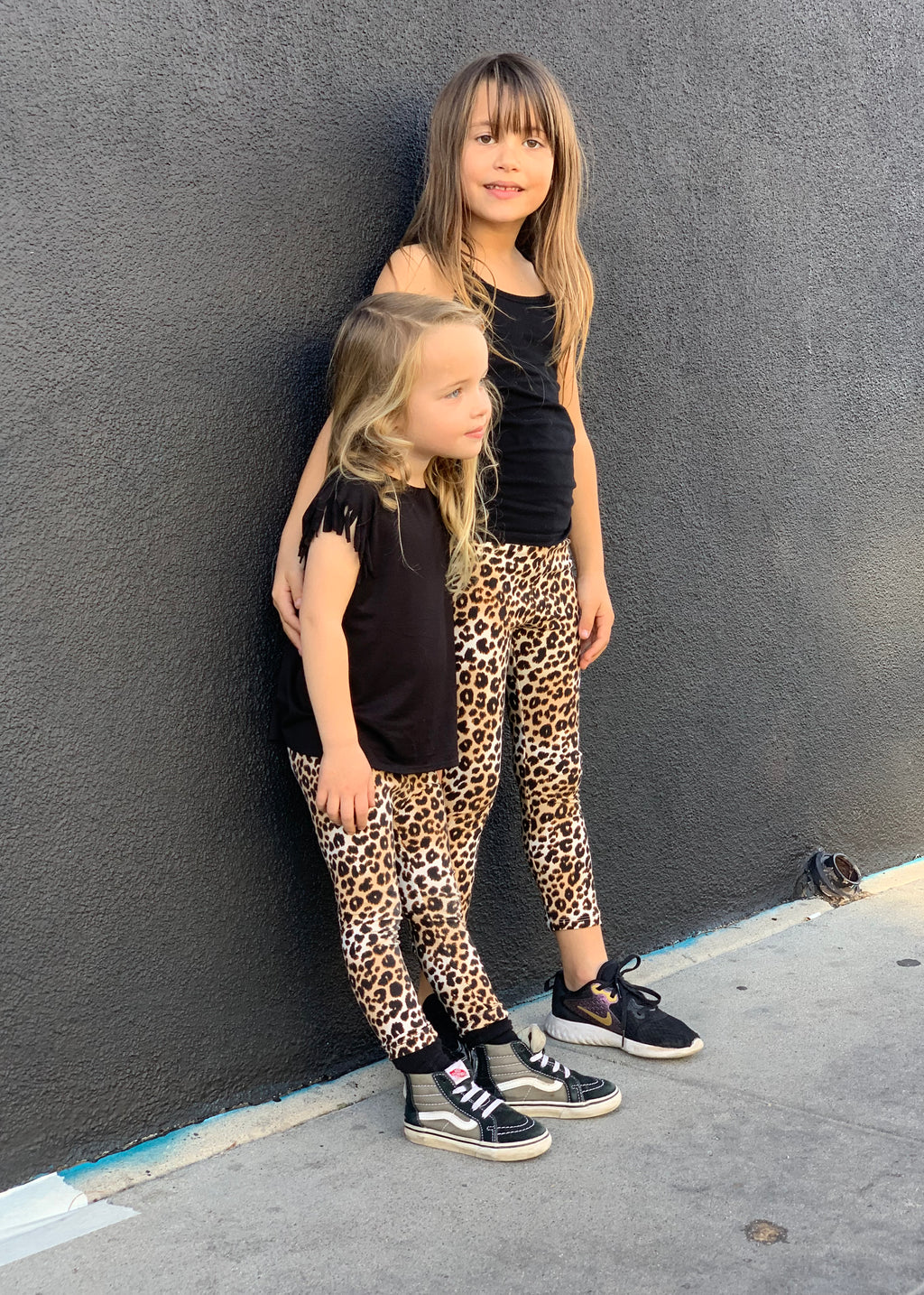 Toddler  Girls Fancy BFF Outfit Animal Leo Print Leggings | Born By The Shore