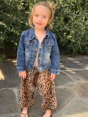 Baby Girl Animal Print Chic Designer Harem Pants | Born By The Shore