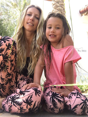 PERFECT MATCH -Mommy & Me Harem Pants Palm Tree
