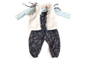 Package deal for your little fashionista including jumper, faux fur vest & long sleeve T-shirt