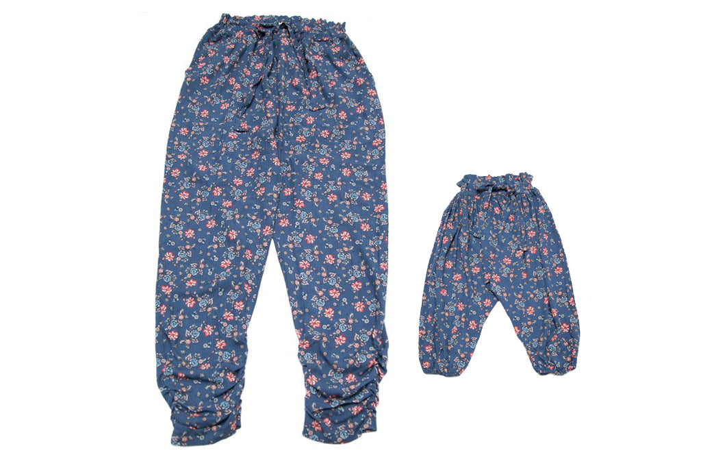 PERFECT MATCH -Mommy & Me Harem Pants Winter Blossom