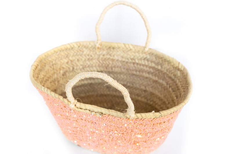 Planter Hobby Mini Basket Sequin Blue Star