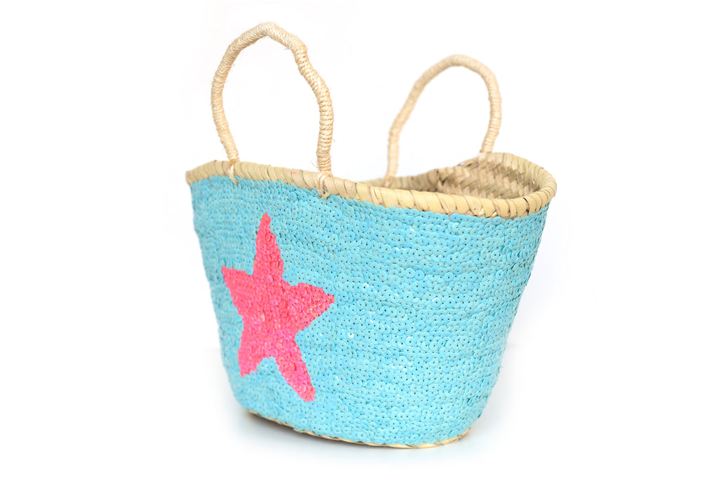 Basket Sequin Sea Star Pink