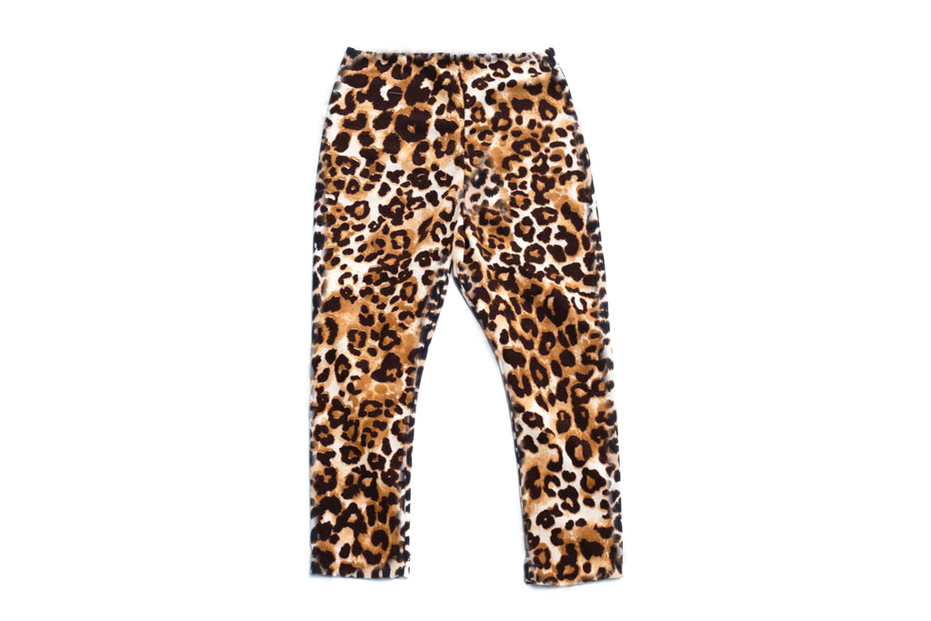 Toddler and Little Girls Fancy Animal Leo Print Leggings | Born By The Shore