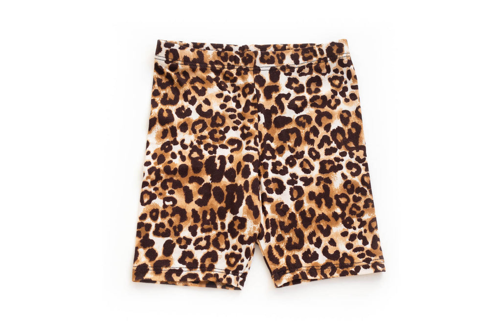 Cute Animal Print Biker Shorts for Toddler Girls | Born By The Shore