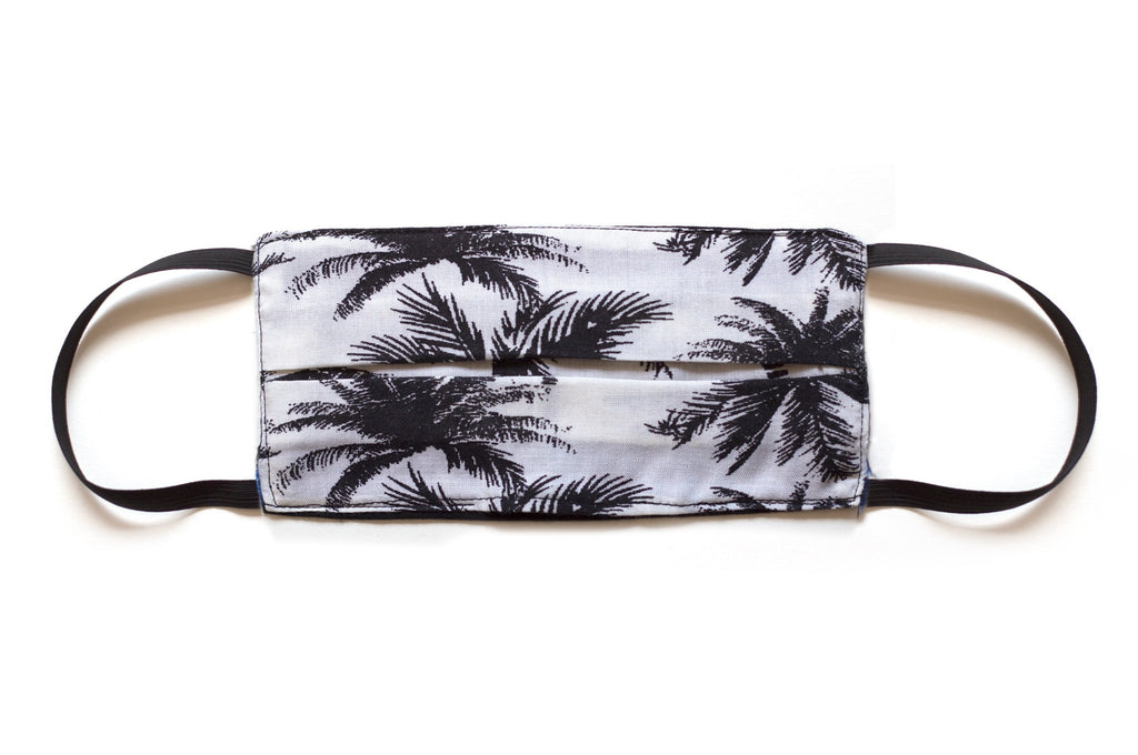Men's Face Mask Palm Tree Black