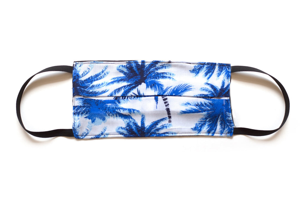 Men's Face Mask Palm Tree Blue