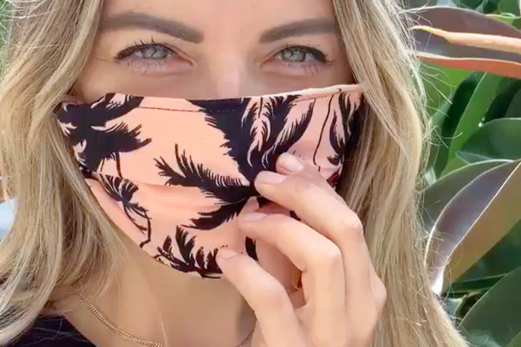 Women's Face Mask Palm Tree