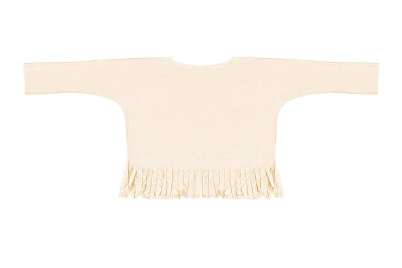 Fringe Shirt Long Sleeve Sand