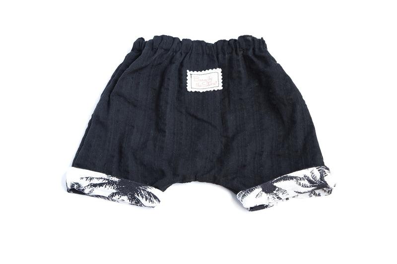 Boy Short Reversible Black