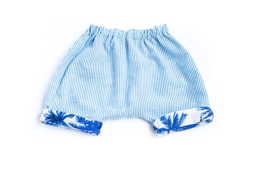 Boy Short Reversible Blue
