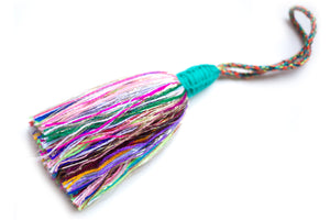 Decorative Hanging Tassel - Multicolor/Turquoise