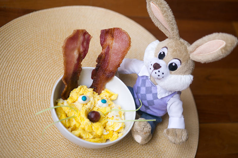 Scramble Egg & Bacon Bunnies