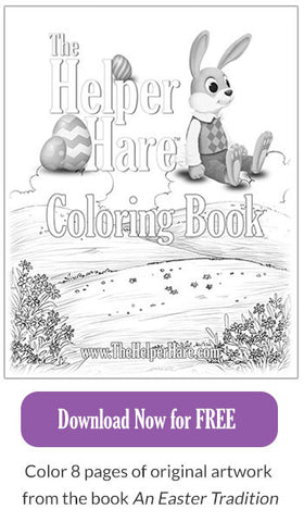 Download Free The Helper Hare Children's Coloring Book