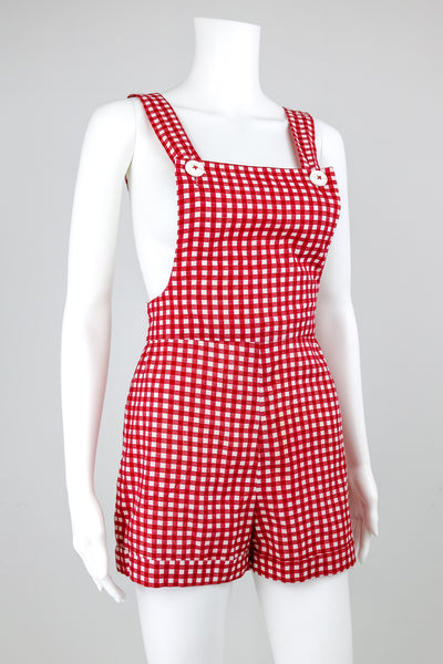 50's Style Red Checkered Overalls
