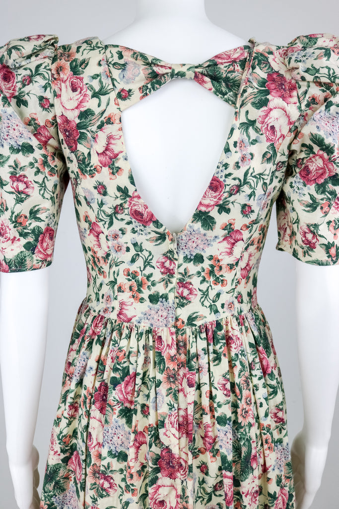 80's 'Gunne Sax' Open Back Floral Dress