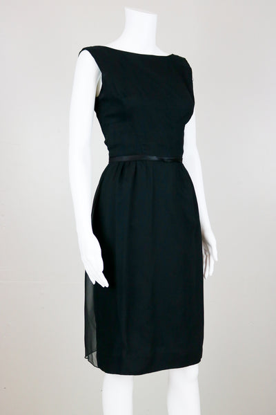 50's Little Black Sleeveless Cocktail Dress