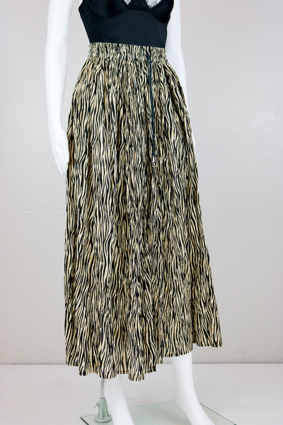 90's Zebra Print Broom Skirt