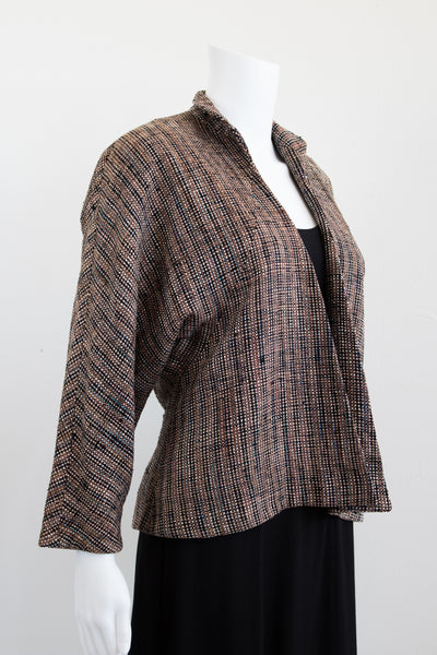 50's Abstract and Artsy Silk Tweed Jacket