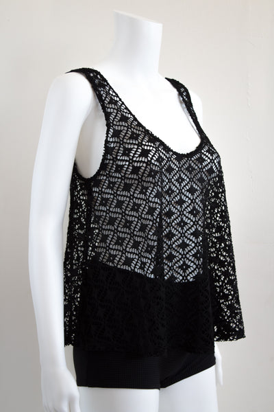 Beach Open Knit 90's  Tank Top