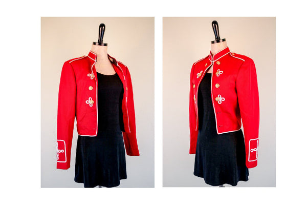 Small American 60's Marching Band Conductors Jacket Burning Man Festival The Beatles Sergeant Pepper's