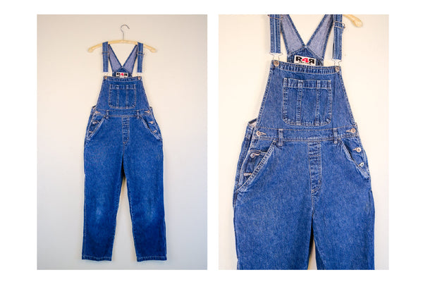 90's Rave4Real Authentic Raver Blue Jean Overalls
