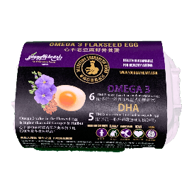 Young@Heart French Flaxseed-Feed Omega3 Eggs 心不老亞麻籽營養蛋(6pcs 隻)日本農場直送