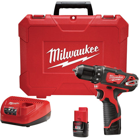 Milwaukee M12 Cordless Drill/Driver Kit — 3/8in. Chuck, 2-Speed