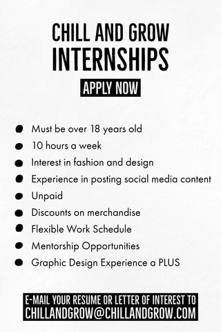 Chill and Grow Internship Opportunities