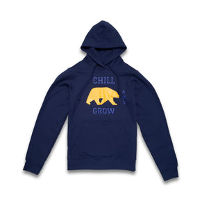 "Chill and Grow Adult ""UC BEAR"" Hoodie (blue)"