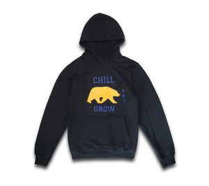 "Chill and Grow ""UC BEAR"" Hoodie (black)"