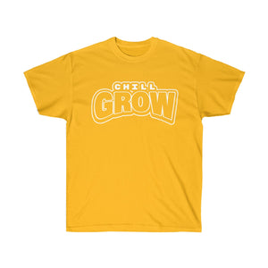 """Chill Grow"" Tee (golden state yellow)"