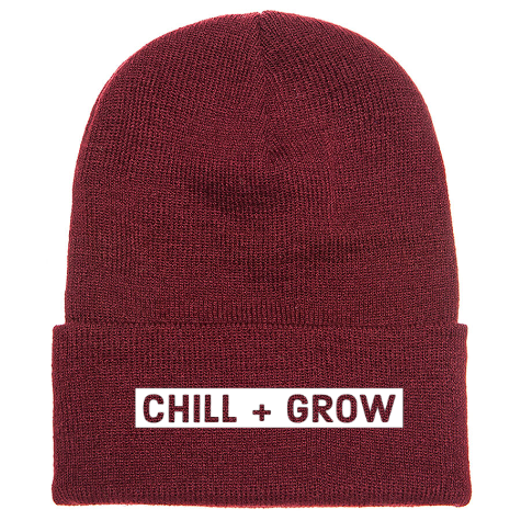 Chill + Grow Beanie in Maroon