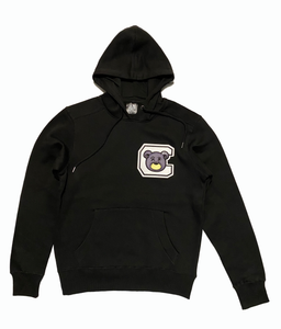 CHILL AVENUE Black Hoodie w/ White C