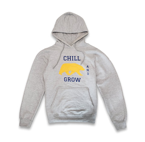"Chill and Grow ""UC BEAR"" Hoodie (heather grey)"