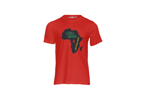 "CHILL + GROW Know Your History"" T-shirt (red)"