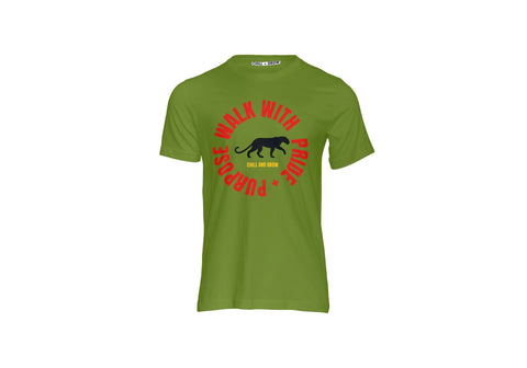 "The ""Pride and Purpose"" Black Panther T-shirt (army green)"